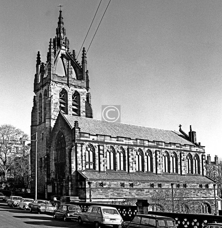 Belmont St.  Stevenson Memorial Church (J J Stevenson, 1900)  January 1976