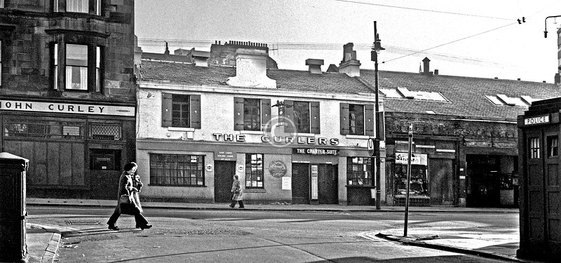 Byres Rd from Ruthven St.  January 1976