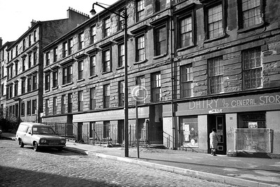 Rose St west side south of Buccleuch St.   February 1976