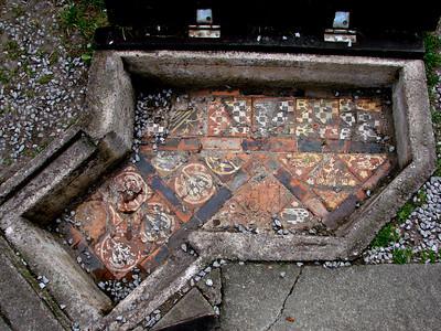 Original floor tiles left in-situ.