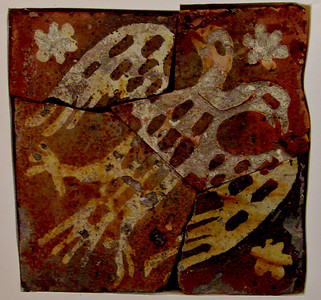 Original floor tile, now in the museum at the Abbey.