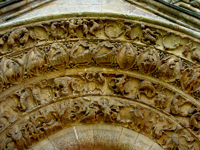 Detail of door arch into the Lady Chapel