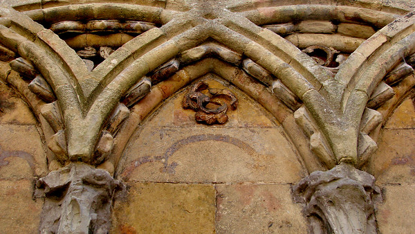 Detail of decorative arches in the Lady Chapel