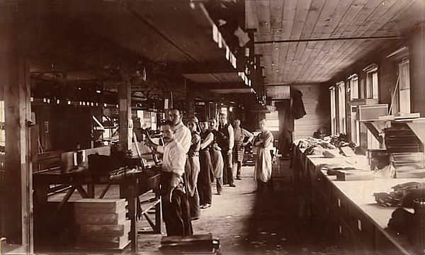 Glove factory, ca. 1880s.