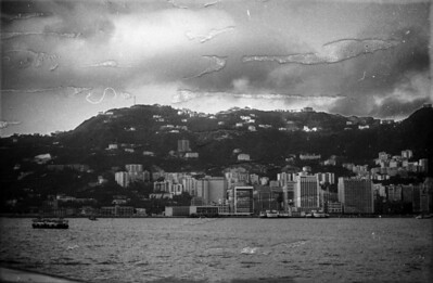 Hong Kong skyline 1963. Peninsula Hotel is the tall building at right.