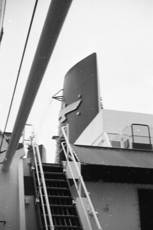 Scenes from the American President Lines SS President Clevelend in Kobe or Yokahama, Japan, July/August 1963.