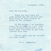William Roache letter 19620910