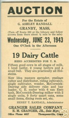 Granby Auction of Cattle