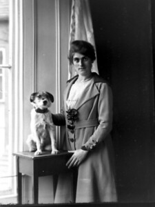 Eunice Bisco with her dog