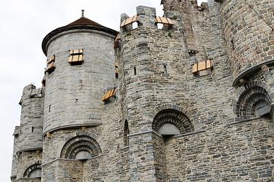 The Gravensteen castle in the center of Ghent (Gent), Belgium.
