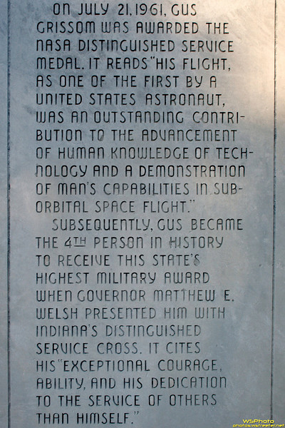 Gus Grissom Monument in Mitchell, IN