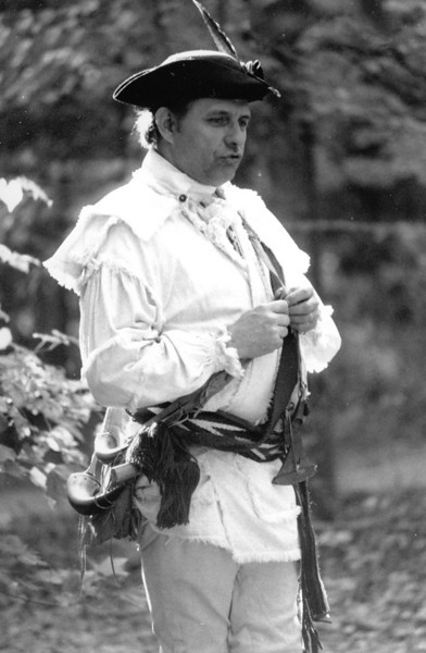 Captain Jim Campbell of the Guilford Militia, Kings Mountain National Military Park, October 8, 1988.  I respect no man more than I do him.
