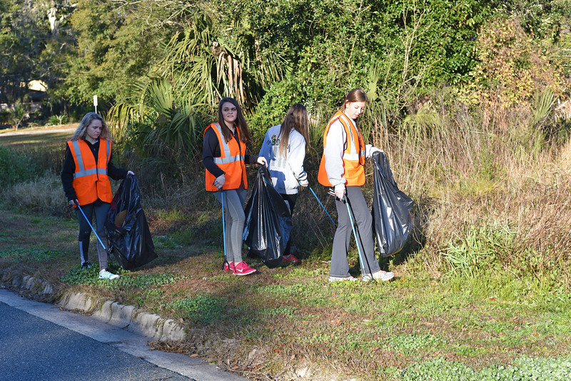 """Historic Brunswick Foundation and The Pirates of the Spanish Main volunteer to cleanup the streets of Brunswick in a community project that envolves the """"Pirates of the Spanish Main"""" in a role that will help the Brunswick, GA community on 02-07-15"""