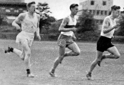 Ken Sigrist, Hamish Robertson, Alan GibsonHamish was by some margin the best athlete of our year at least. On the advice of Roy Smith (senior gym master, 'Wee Roy') he specialised in the Triple Jump, and went on to hold the Scottish National record for a number of years.