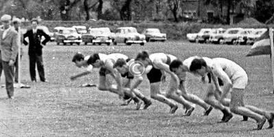 Alan Gibson, Hamish Robertson, Geoffrey Pearson (lanes 3,4 and 6).