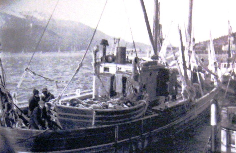 Scandia  Built 1913 Seattle  OO Hvatum  Egill Eriksen  Pic Taken January Ketchikan 1927  Feburary 23 1927 Lost Near Entrance To Kodiak All Saved