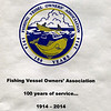 Fishing Vessel Owners' Association,100 years service,1914,2014,