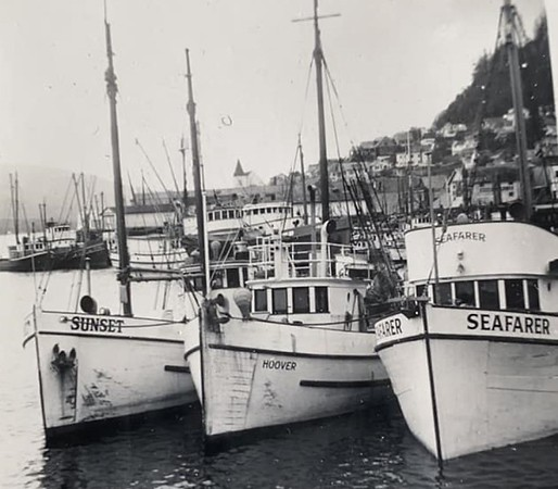 Sunset Karl Johanneson Hoover N O Ulvang Seafarer Andrew Mullan Pictured Early 1950s  Ketchikan