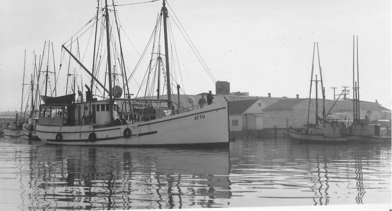Attu,Built 1924 Maplewood Washington,Oluf Nygaard,Ralph Ekrom,Donald Knutsen,Anne,Pic Taken 1950's Eureka,