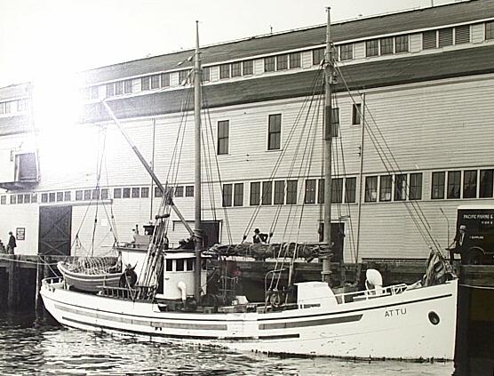 Attu  Built 1924 Maplewood Wash  Peter Pettersen  Pic Taken Seattle  1930's  March 28 1990 Vessel Sank Kayak Island Alaska  All Saved