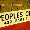 PEOPLES CLUB - PHOENIX, IL <br /> Across from Perfection Gear, a popular bar for local workers in the 1940-60's era.