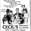 CECIL'S LOUNGE - HARVEY, IL - 1960 AD<br /> Had the neon sign with the flicking cocktail glass.