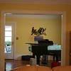 view from family room to dining room (studio)