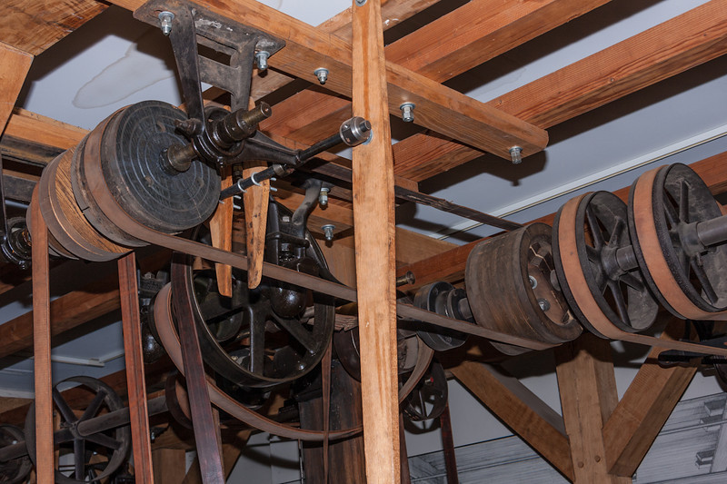 Another look at the power system. I believe the rear shaft was the main power shaft. Power was derived from the canal system.