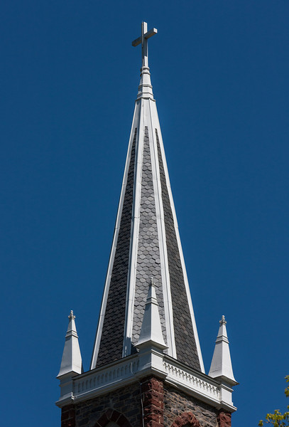 Church Steeple. The church is apparently available for Weddings