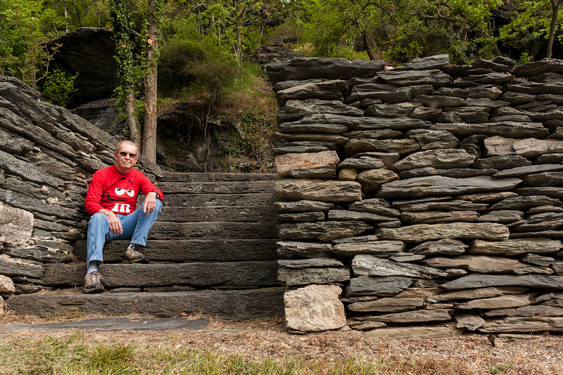 Self portrait. Proves I was there. LOL  Plus shows how they constructed the town from the rocks found in the local hills.