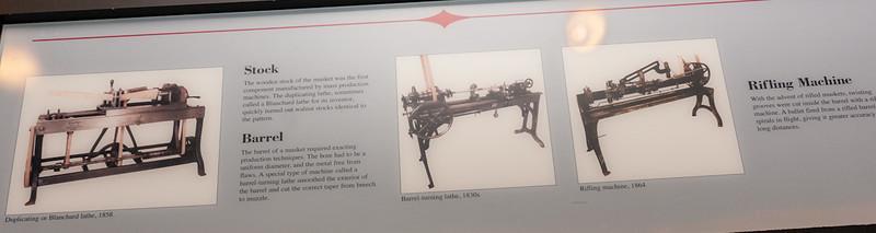 Illustrating the gun manufacturing process.