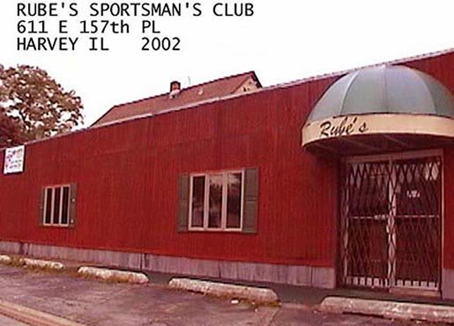RUBE'S SPORTSMAN'S CLUB BUILDING - 2002<br /> Long since closed.  Operated by Rube Walczak, who lived nearby and a haven in the 1950's for those driving from Chicago to Washington Park race track in Homewood.