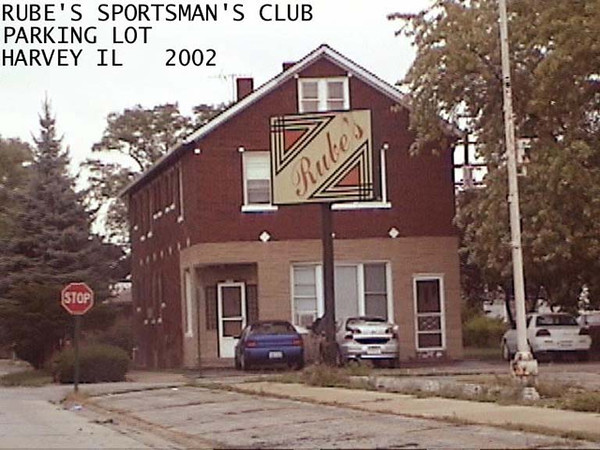 RUBE'S SPORTSMAN'S CLUB PARKING LOT -  2002<br /> Building was a mom and pop grocery store in past
