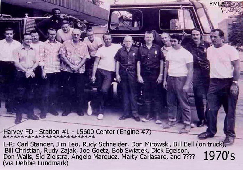 HARVEY (IL) FIRE DEPT. - 156th & Center - 1970's