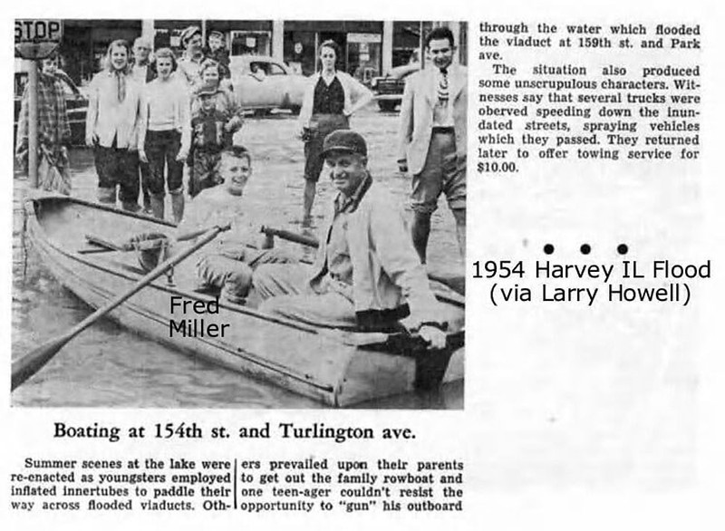 1954 FLOOD - HARVEY, IL - TURLINGTON AVE.