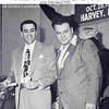 LOU BOUDREAU, SR. DAY - HARVEY, IL - 1948<br /> Bill Veeck, Cleveland Indians owner on right--later owned the Chicago White Sox.   Lou's son, Lou Jr., served in Viet Nam and had three Purple Hearts.  This was an all American family.