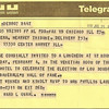 LOU BOUDREAU SR - HALL OF FAME TELEGRAM - 1970
