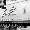 EAGLE DEPARTMENT STORE - HARVEY, IL<br /> Showing older and newer stores. Soenksen family operated the business.
