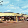 BRADSHAW FORD - HARVEY, IL  1960's ERA<br /> Postcard ---NE corner of Vine