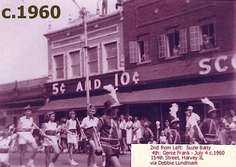 """SCOTT'S 5 AND 10 - HARVEY, IL  1960<br /> Originally these stores were called """"five and tens""""--later """"dime stores.""""  Mainly because much could be purchased for that price.  Now it's """"Family Dollar.""""  What's next?  """"Ten Buck Botique?"""""""