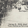 BUS DEPOT -154th STREET - HARVEY, IL - 1954 FLOOD