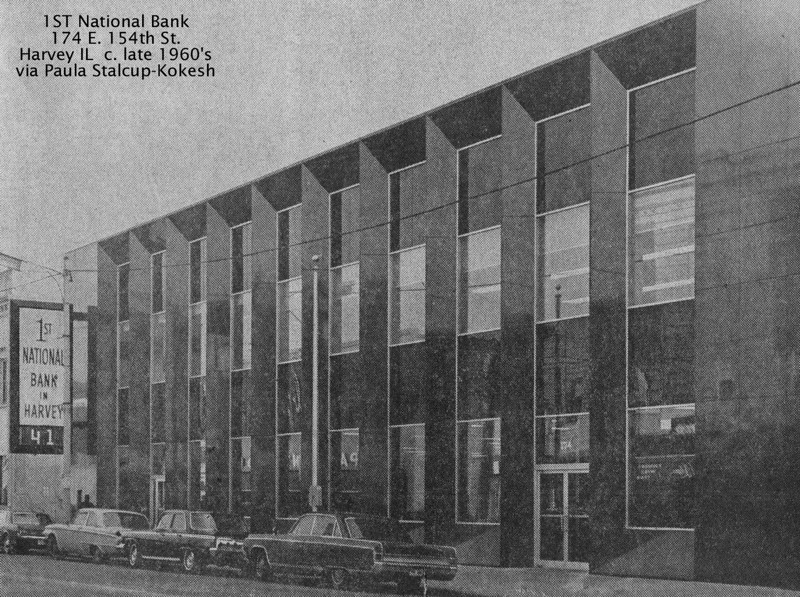 FIRST NATIONAL BANK OF HARVEY, IL - 1960's