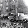 1954 FLOOD - FIRE STATION-MOOSE HALL -HARVEY, IL