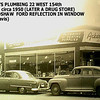 ACKERMAN'S PLUMBING - HARVEY, IL - c. 1950<br /> SE corner of Vine.  Occupied building after Kroger Foods. Drug store on left was owned by the McCoy family.
