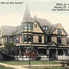 """MYSTERY HOME - HARVEY, IL - c.1908<br /> One of the many magnificent homes that dotted Harvey's """"elite"""" 155th St. in earlier days.  No location is known and the building is not standing in present day Harvey."""