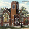 METHODIST CHURCH - HARVEY IL - EARLY 1900'S Postcard