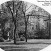 TTHS - HARVEY, IL - 1942 ERA<br /> Main entrance would be behind the trees. Via 1942 Thorntonite yearbook