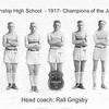 1917 BASKETBALL TEAM - JOLIET TOURNAMENT CHAMPIONS