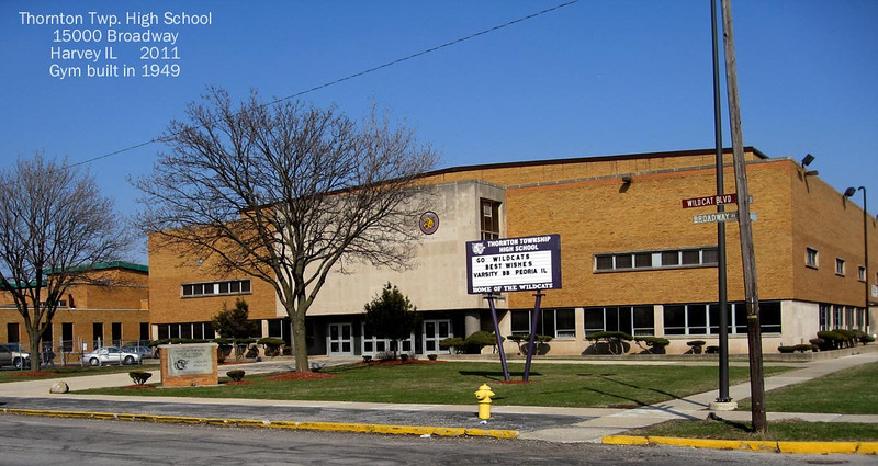 GYM  - Built in 1949 to replace the Buda gymnasium, which was on south end of present football field.