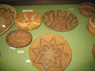 Cahuilla baskets, Hemet Museum, 30 Sep 2006